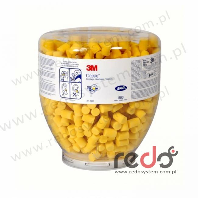 Wkładki przeciwhałasowe 3M™ CLASSIC - wkład wymienny 1000 szt. w butli (SNR 29 dB) (PD-01-001)
