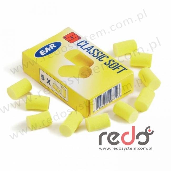 Wkładki przeciwhałasowe CLASSIC SOFT - 5 par w pudełku