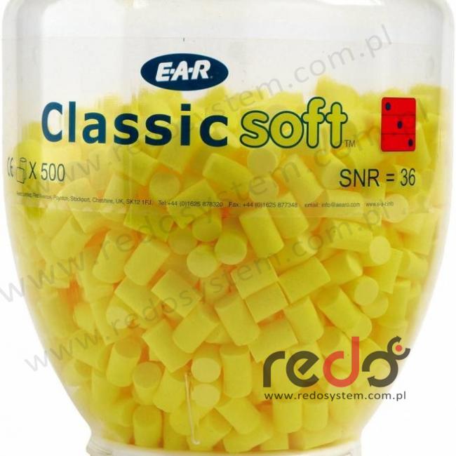 Wkładki przeciwhałasowe CLASSIC SOFT - wkład wymienny  (500 par)