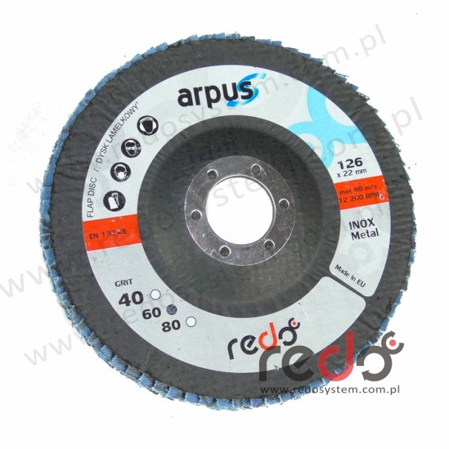 Dysk lamelkowy redo ARPUS 125mm P60