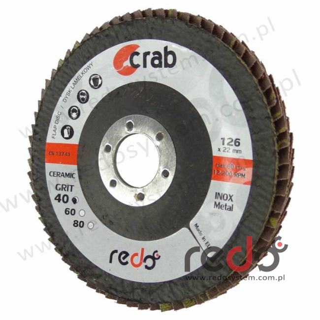 Dysk lamelkowy redo CRAB 125x22 P120