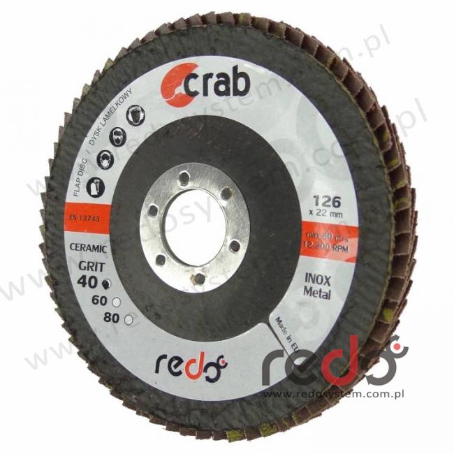 Dysk lamelkowy redo CRAB 125x22 P80