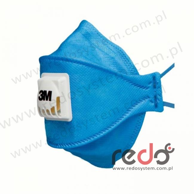 Półmaska filtrująca 3M™ 9422+ Aura, składana z zaworem wydechowym klasa FFP2 12xNDS (9422+)