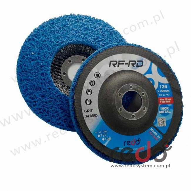 Dysk RF-RD (ściernica talerzowa) z włókniny prasowanej 125mm x22 w gradacji 3A MED T27X