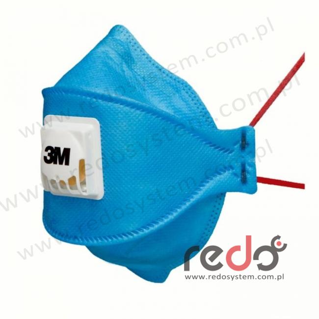 Półmaska filtrująca 3M™ 9432+ Aura, składana z zaworem wydechowym klasa FFP3 50xNDS  (do przemysłu spożywczego i farm.) (9432+)