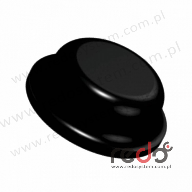 Bumpon (SJ-6176) Czarny 2,8x8x0,008