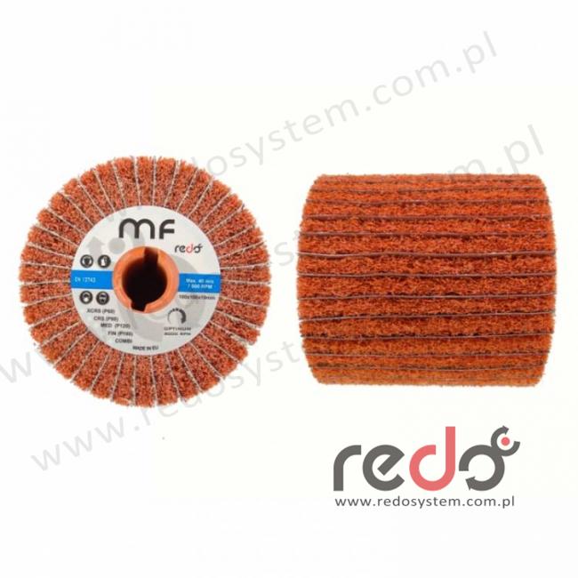 Wałek do satyniarki HDI-MF combi 100x100x19 A FIN pomarańczowy