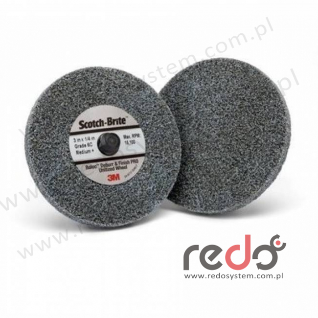 Roloc DP-UR z włókiny Scotch-Brite Debur and Finish PRO 6C MED. 65x6,25