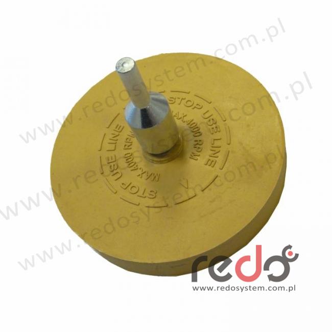 Tarcza gumowa elastyczna przeznaczona do usuwania kleju z trzpieniem mocowania