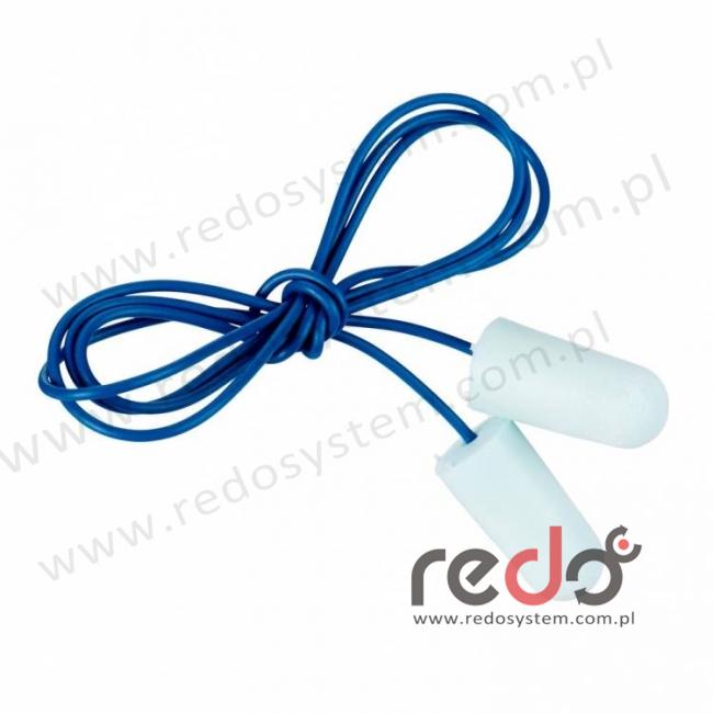 Wkładki przeciwhałasowe 3M™ E-A-R SOFT Metal Detectable - niebieskie, widoczne dla wykrywaczy metali, ze sznurkiem (SNR 36 dB) (ES-01-011A)