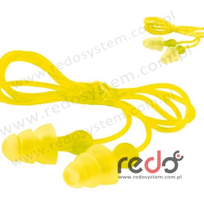 Wkładki przeciwhałasowe 3M™ Tri-Flange - ze sznurkiem bawełnianym (SNR 29 dB) (PN-01-006)