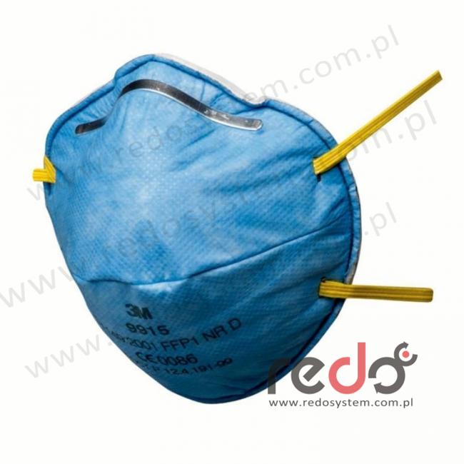 Półmaska filtrująca 3M™ 9915, specjalistyczna bez zaworu wydechowego klasa FFP1 4xNDS (9915)