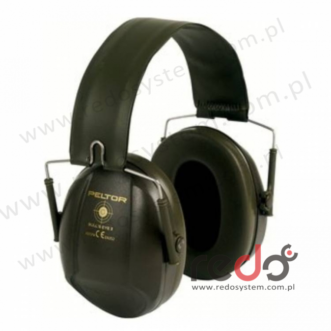 Nauszniki przeciwhałasowe 3M™ BULL\'s EYE I składane, zieleń wojskowa  (SNR 27 dB)