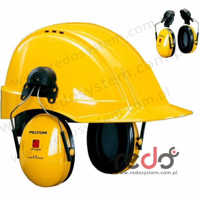 Nauszniki przeciwhałasowe 3M™ H31 CE wersja nahełmowa, żółte do 300-GU, Peltor G3000  (SNR 28 dB)