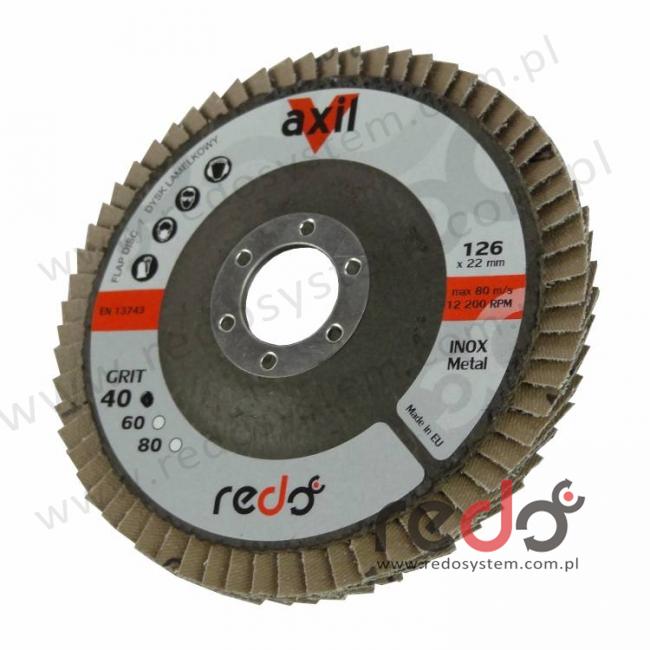 Dysk lamelkowy REDO Axil 125 płaski P80