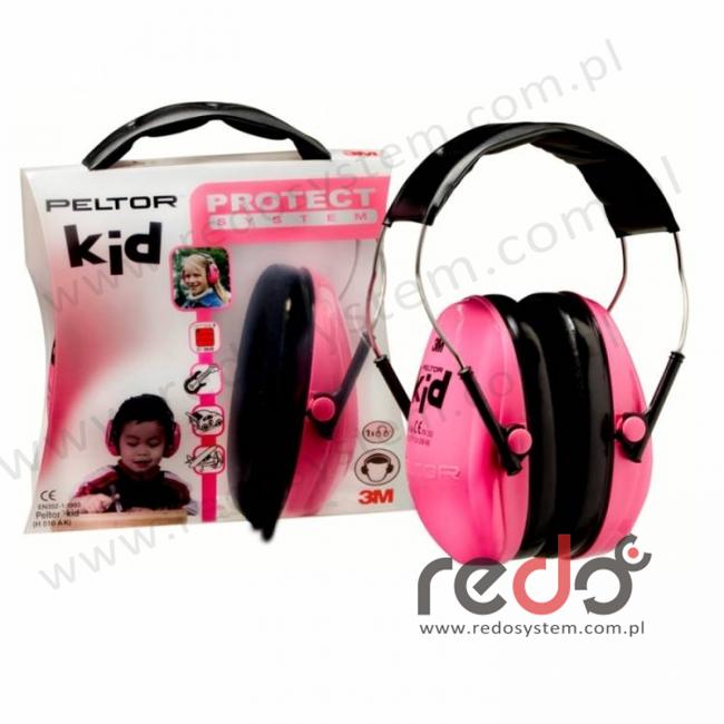 Ochronniki słuchu Peltor Kid  (H510AK-442), różowy neon  (SNR 27 dB)