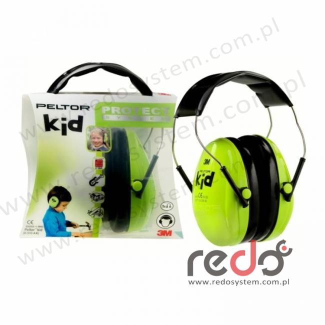 Ochronniki słuchu Peltor Kid  (H510AK-442), zielony neon  (SNR 27 dB) (H510AK-442-GB)