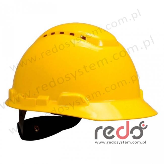 Hełm ochronny H-700 żółty z wentylacją, standardowa więźba (H-700C-GU)