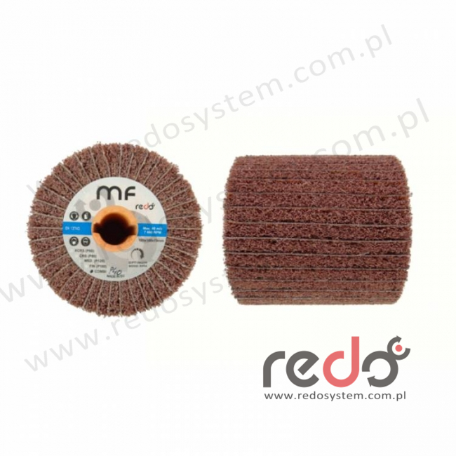 Walec ścierny HD-MF combi 100x100x19 P80/A CRS