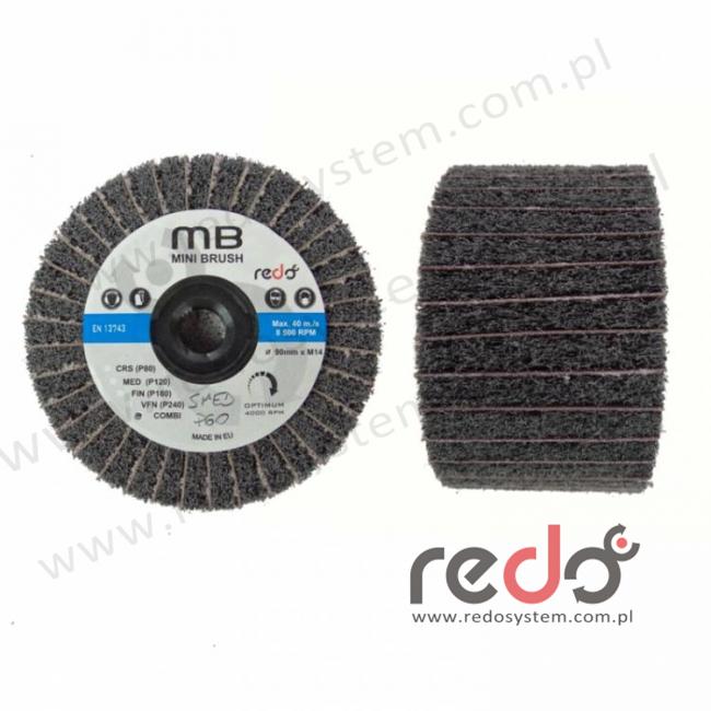 Wałek ścierny CF-MB combi 90x50xM14 S MED./P80