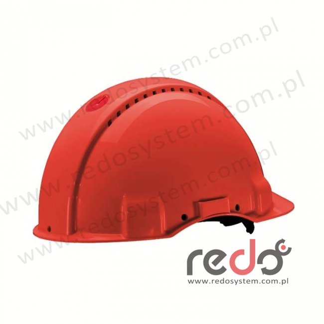 Hełm ochronny Solaris G3000 czerwony (G3000CUV-RD)