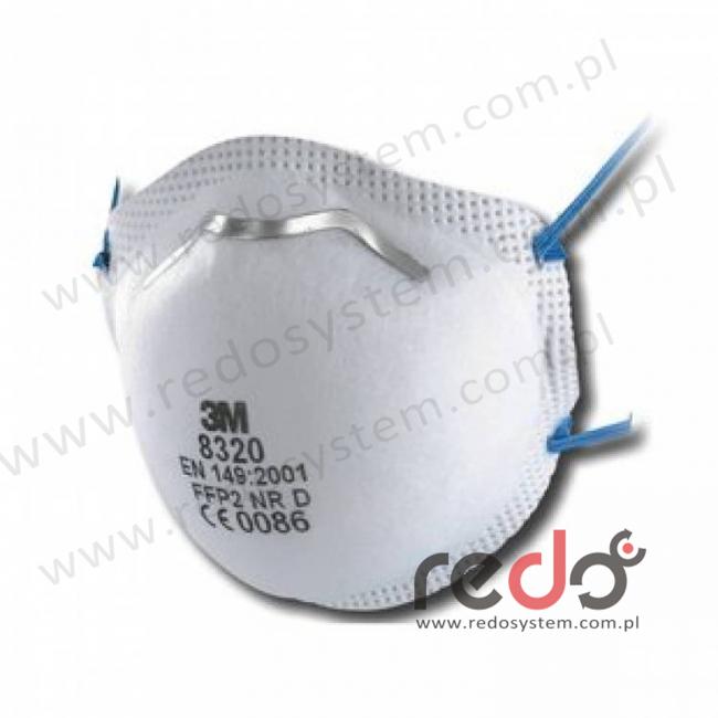 Półmaska filtrująca 3M™ 8320, kopułkowa bez zaworu wydechowego klasa FFP2 12xNDS (8320)