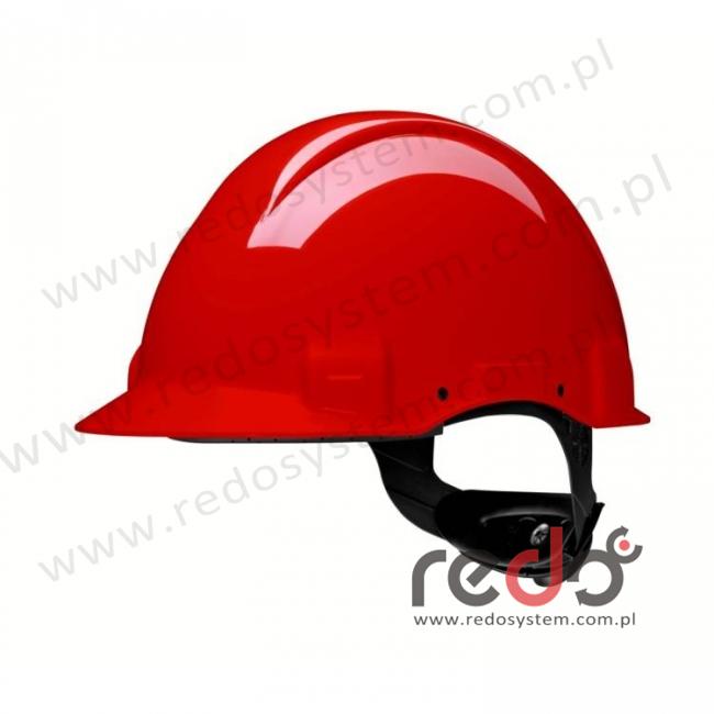 Hełm ochronny Solaris G3001 czerwony (G3001CUV-RD)