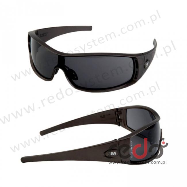 Okulary 1100E szara soczewka AS-AF + futerał z mikrowłókien