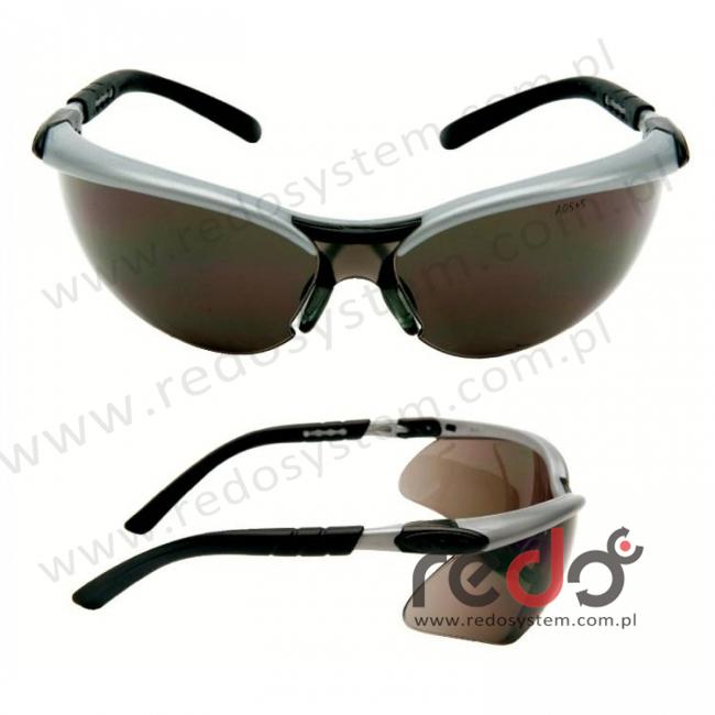 Okulary BX czarne regulowane zauszniki + szara soczewka AS-AF (11381-00000M)