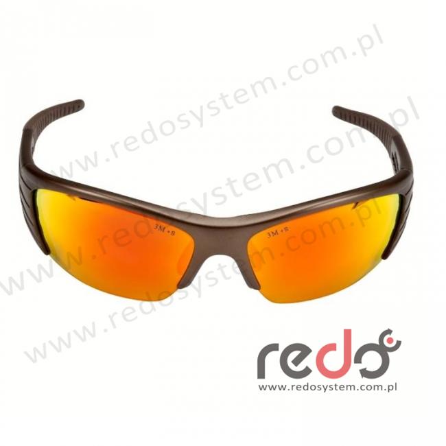 Okulary FUEL X2 kolor miedziany, czerwona soczewka lustrzana + futerał z mikrowłókien (71506-00002M)