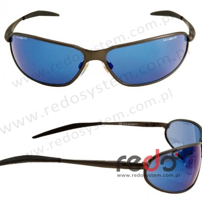 Okulary MARCUS GRĂśNHOLM soczewka niebieska lustrzana (71462-00003M)