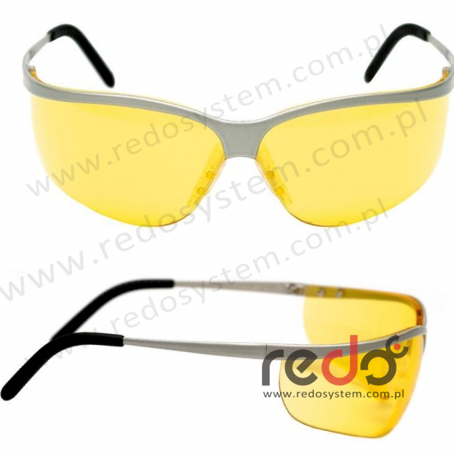 Okulary METALIKS SPORT żółta soczewka AS-AF (71461-00002M)