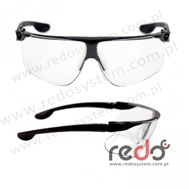 Okulary MAXIM BALLISTIC czarne zauszniki + bezbarwna soczewka DX (13296-00000M)