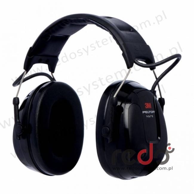 Ochronniki 3M™ PELTOR™ ProTac™ III o regulowanym tłumieniu Slim, czarne, nagłowne (MT13H220A)