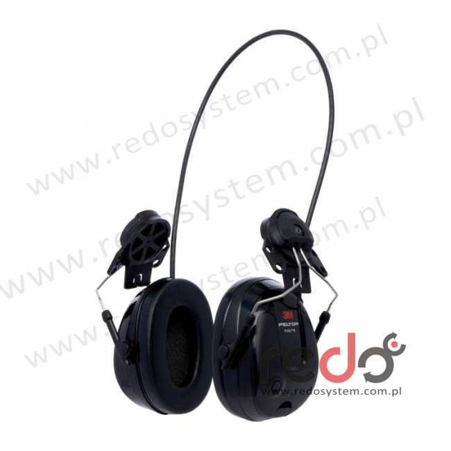 Ochronniki 3M™ PELTOR™ ProTac™ III o regulowanym tłumieniu Slim czarne, dohełmowe (MT13H220P3E)