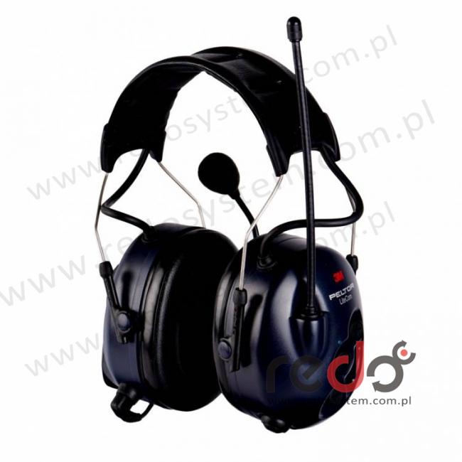 3M™ Peltor™ LiteCom z wbudowanym radiotelefonem PMR 446 MHz wersja nagłowna (MT53H7A4400-EU)