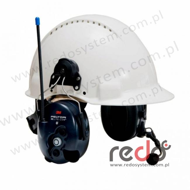3M™ Peltor™ LiteCom WS o regulowanym tłumieniu z wbudowanym radiotelefonem PMR 446 MHz oraz modułem Bluetooth wersja nahełmowa (MT53H7P3E4410WS5)