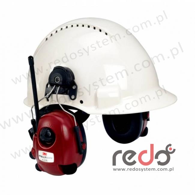 Ochronnik słuchu 3M™  Peltor™ Alert z radiem AM/FM  z funkcją regulowanego tłumienia przeznaczony do komunikacji dwukierunkowej wersja nahełmowa