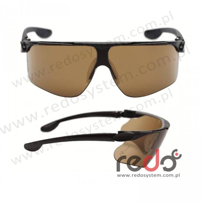 Okulary MAXIM BALLISTIC czarne zauszniki + brązowa soczewka DX