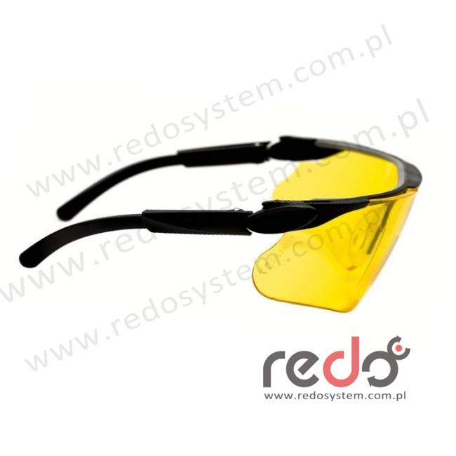 Okulary MAXIM BALLISTIC czarne zauszniki + żółta soczewka DX