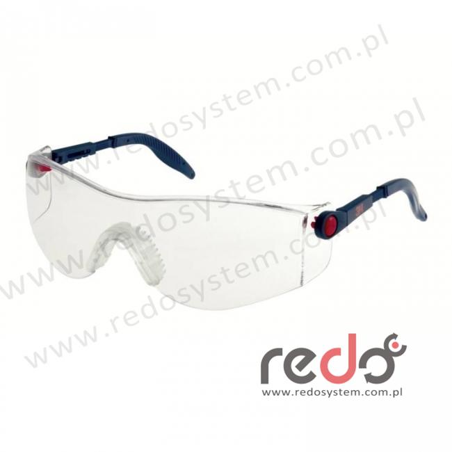 Okulary ochronne 2730 bezbarwne, niebieska oprawka, powłoka AS-AF