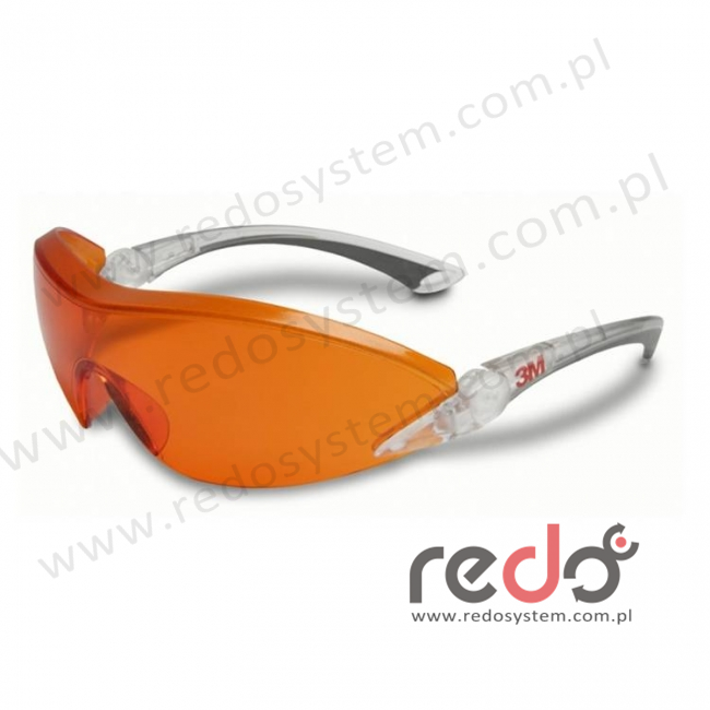 Okulary ochronne 2846 AS-AF czerwono - pomarańczowe