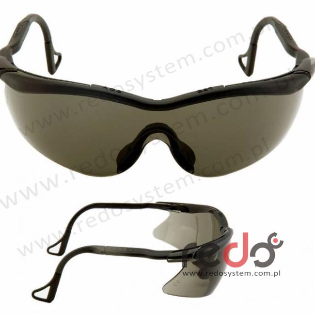 Okulary QX2000 czarne, obracane końcówki, szara soczewka DX (04-1022-0245M)