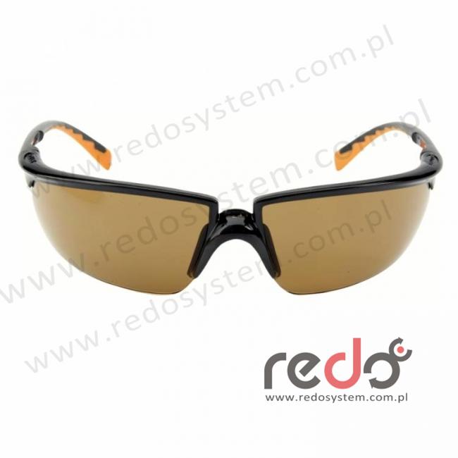 Okulary SOLUS czarne / pomarańczowe, brązowa soczewka AS-AF + futerał z mikrowłókien (71505-00003M)