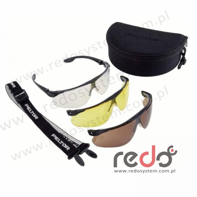 Zestaw MAXIM BALLISTIC Utility Pack: bezbarwne, brązowe, żółte, czarna oprawka, powłoka DX (13200-99999M)