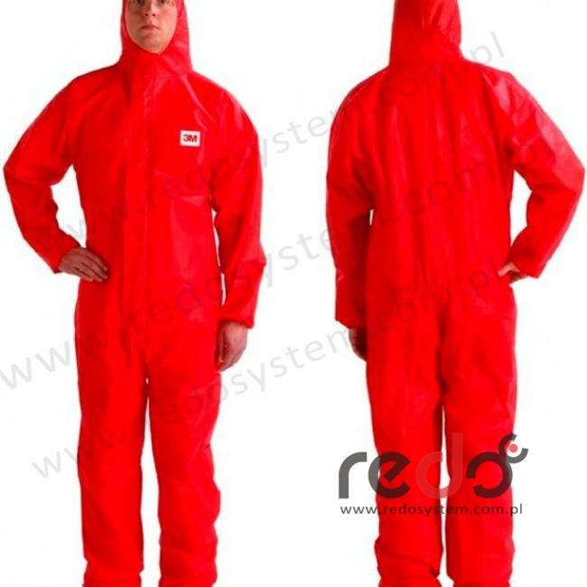 Kombinezon ochronny 4515 kategoria III, czerwony typ 5/6 rozmiar XL  (4515)