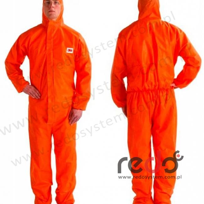 Kombinezon ochronny 4515 kategoria III, pomarańczowy typ 5/6 rozmiar XL