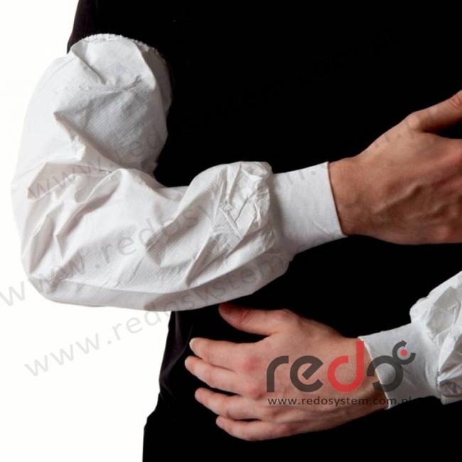 Zarękawek 445 od nadgarstka do końca ramienia, z elastycznym mankietem, biały  (445)