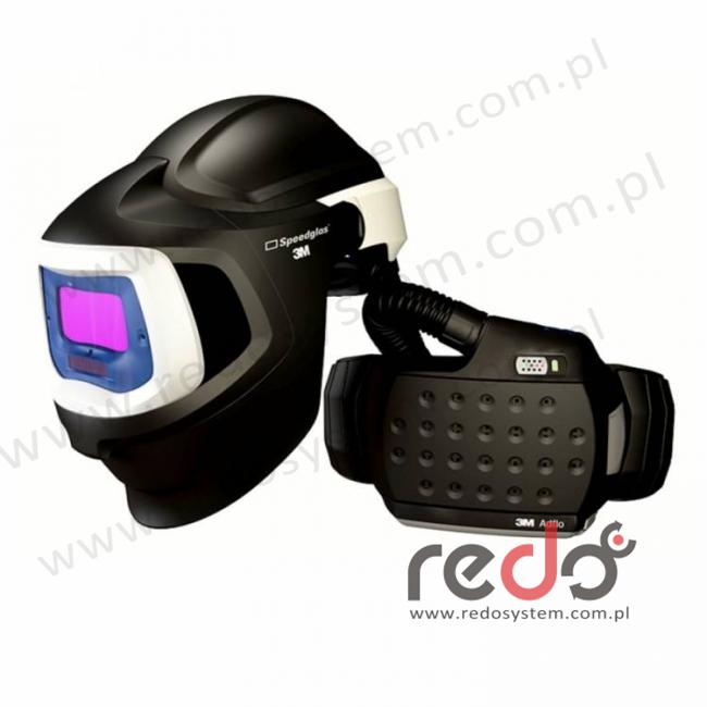 Przyłbica z hełmem ochronnym 9100 MP z filtrem Speedglas 9100V i Adflo  (z torbą)  (akumulator LiIon) (577705)